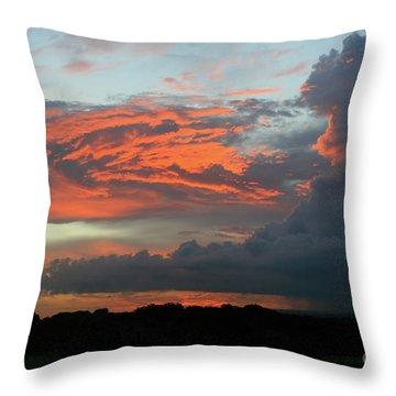 Summer Sky On Fire  Throw Pillow