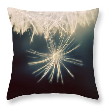 Throw Pillow featuring the photograph Summer Snow by Amy Tyler