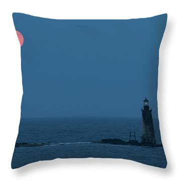 Summer Solstice Strawberry Moon Throw Pillow