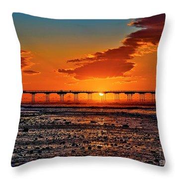 Summer Solstice Sunset Throw Pillow