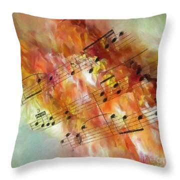 Summer Sonata Sq Throw Pillow