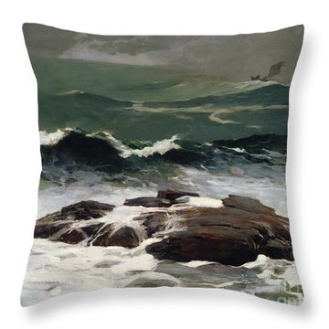 Summer Squall Throw Pillow by Winslow Homer