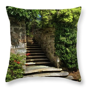 Throw Pillow featuring the photograph Summer Steps by Mark Miller