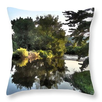 Throw Pillow featuring the photograph Summer Still by Betsy Zimmerli