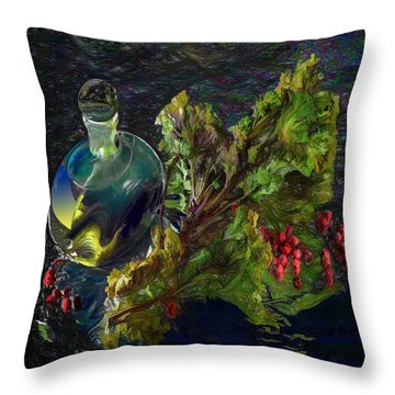 Summer Stillife Throw Pillow