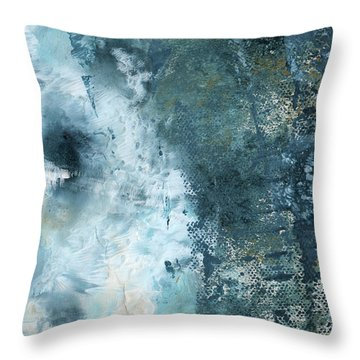 Summer Storm- Abstract Art By Linda Woods Throw Pillow