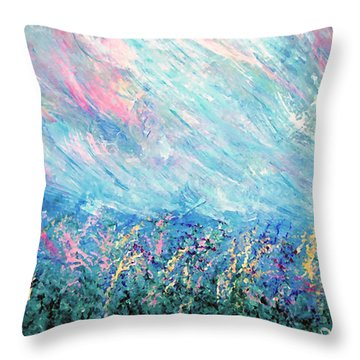 Summer Storm Throw Pillow by Donna Proctor