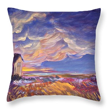 Summer Storm Throw Pillow by Joanne Smoley