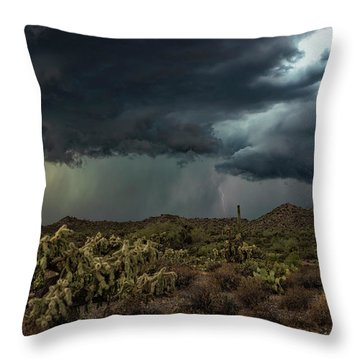 Throw Pillow featuring the photograph Summer Storm  by Saija Lehtonen