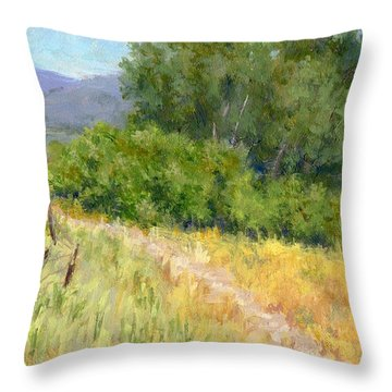 Summer Stroll Throw Pillow