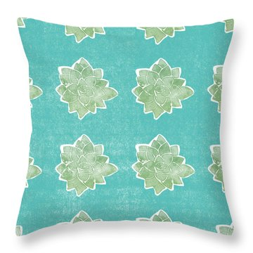 Summer Succulents- Art By Linda Woods Throw Pillow