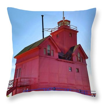 Throw Pillow featuring the photograph Summer Sun And Big Red by Michelle Calkins