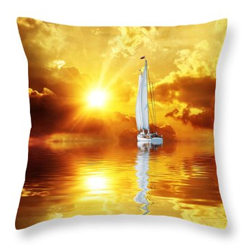 Summer Sun And Fun Throw Pillow