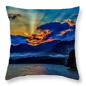 Summer Sundown Throw Pillow