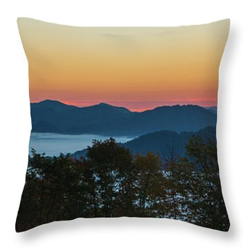 Summer Sunrise - Almost Dawn Throw Pillow