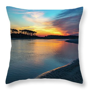 Summer Sunrise At The Inlet Throw Pillow