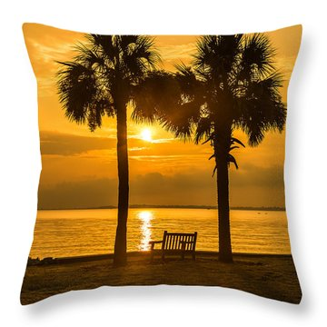 Summer Sunrise - Charleston Sc Throw Pillow
