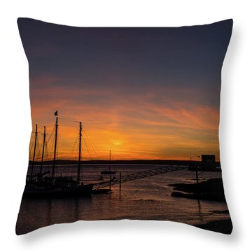 Summer Sunrise In Bar Harbor Throw Pillow