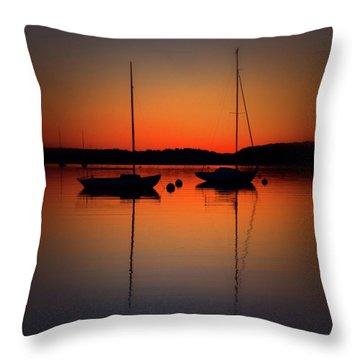 Summer Sunset Calm Anchor Throw Pillow