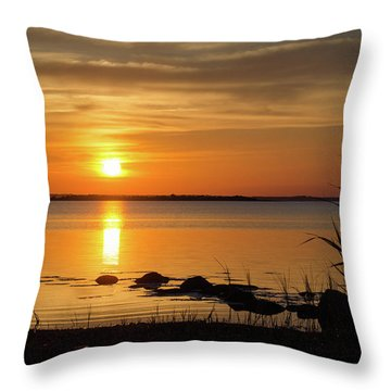 Throw Pillow featuring the photograph Summer Sunset by Kennerth and Birgitta Kullman