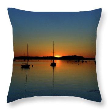 Summer Sunset Monument Beach Throw Pillow