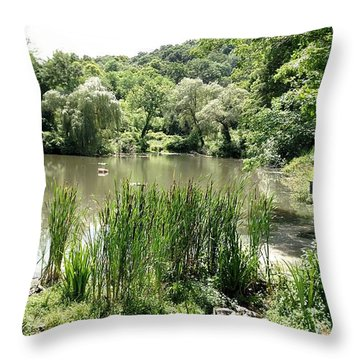 Throw Pillow featuring the painting Summer Swamp by James Guentner