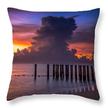 Summer Thunder Throw Pillow