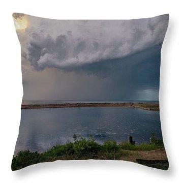Summer Thunderstorm Throw Pillow