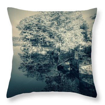 Summer Time Blues Throw Pillow