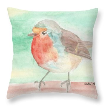 Summer Time Robin Throw Pillow by Isabel Proffit