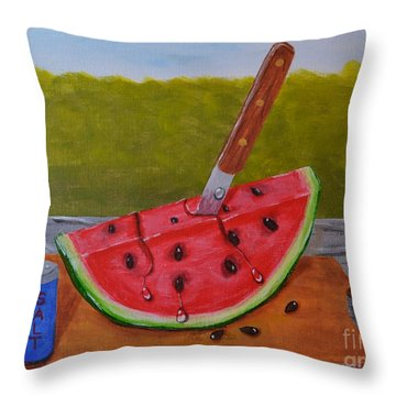 Summer Treat Throw Pillow by Melvin Turner