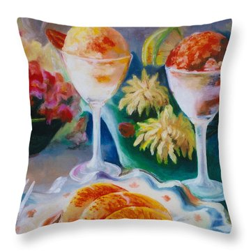 Summer Treats Throw Pillow