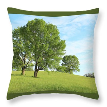 Summer Trees Throw Pillow