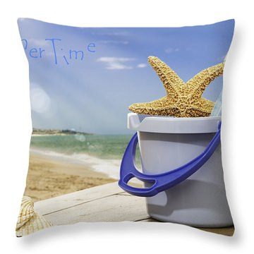 Summer Vacation Throw Pillow by Amanda Elwell