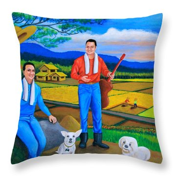 Summer View Throw Pillow