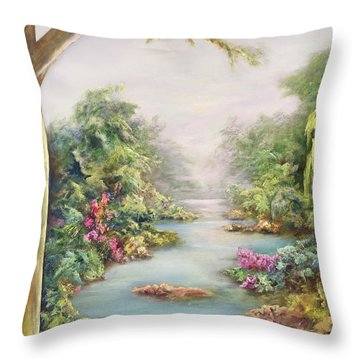 Summer Vista Throw Pillow by Hannibal Mane
