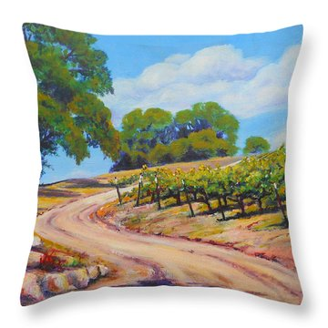 Summer Walk Throw Pillow by Margaret  Plumb