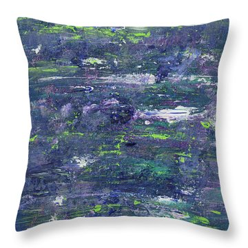Summer Water Garden Throw Pillow