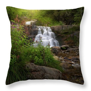Throw Pillow featuring the photograph Summer Waterfall by Bill Wakeley