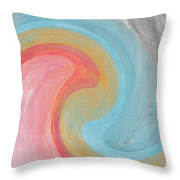 Summer Waves- Abstract Art By Linda Woods Throw Pillow