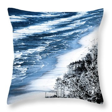 Summer Waves Cape Lookout Oregon Coast Throw Pillow