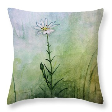 Summer Wildflower Throw Pillow