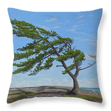 Throw Pillow featuring the painting Summer Wind by Kenneth M Kirsch