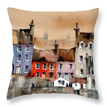 Cork... Summercove, Kinsale. Throw Pillow