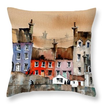 Cork... Summercove, Kinsale. Throw Pillow