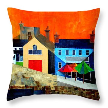 The Bulman, Summercove, West Cork Throw Pillow