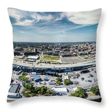Summerfest Panorama Throw Pillow