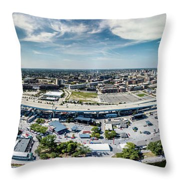 Summerfest Panorama Throw Pillow