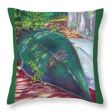 Summerime Overturned Throw Pillow by Katherine  Berlin