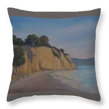 Summerland Beach Study Throw Pillow by Jennifer Boswell